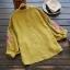 เสื้อผ้าฝ้ายคอวีปักแต่งลาย แขนสามส่วน (มีให้เลือก 3 สี) thumbnail 4