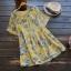 เสื้อเบลาส์ผ้าฝ้ายพิมพ์ลาย แขนสั้น (มีให้เลือก 3 สี) thumbnail 1