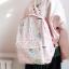 กระเป๋าเป้ผ้า Nylon พิมพ์ลายเครื่องเขียน (มีให้เลือก 4 สี) thumbnail 2