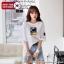 [PRE-KOREA] เสื้อยืดพิมพ์ลาย/เย็บแต่งแท็กแขนสั้น (มีให้เลือก 2 สี) thumbnail 1