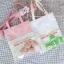 กระเป๋าถุงผ้า Canvas แต่งตุ๊กตา/ตัวการ์ตูน เย็บครอบ PVC ใส (มีให้เลือก 4 สี) thumbnail 2