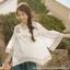 [สินค้าป้ายทอง] เสื้อเบลาส์ผ้าฝ้าย100% คอวีแขนสั้นปักลาย (มีให้เลือก 3 ไซส์) thumbnail 2
