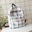 กระเป๋าเป้ผ้า Oxford ลายสก๊อต/ลายผ้าขาวม้า (มีให้เลือก 4 สี) thumbnail 1