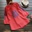 เสื้อผ้าฝ้ายปักแต่งลายครอสติช แขนสามส่วน (มีให้เลือก 2 สี) thumbnail 2