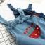 เอี๊ยมกางเกงยีนส์ขาสั้น ปักแต่งลาย (มีให้เลือก 2 สี 2 ไซส์) thumbnail 3