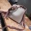 { พร้อมส่ง } กระเป๋าถือ/กระเป๋าสะพายข้าง (สีม่วงอมชมพู) thumbnail 1