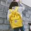 กระเป๋าเป้สะพายหลังผ้าฝ้าย (มีให้เลือก 4 สี) thumbnail 3