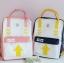 กระเป๋าเป้ผ้า Canvas พิมพ์ลาย (มีให้เลือก 4 สี) thumbnail 1