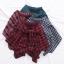 กระโปรงสั้นลายสก๊อตเอวยืด แต่งแขนเสื้อหลอกผูกคาดกระโปรง (มีให้เลือก 4 สี) thumbnail 5