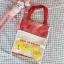 กระเป๋าถุงผ้า Canvas แต่งตุ๊กตา/ตัวการ์ตูน เย็บครอบ PVC ใส (มีให้เลือก 4 สี) thumbnail 3