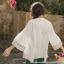 [สินค้าป้ายทอง] เสื้อเบลาส์ผ้าฝ้าย100% คอวีแขนสั้นปักลาย (มีให้เลือก 3 ไซส์) thumbnail 3