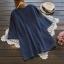 เสื้อเบลาส์คอวีแขนสั้น ปักแต่งลาย (มีให้เลือก 2 สี) thumbnail 3