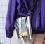 กระเป๋าสะพายข้าง PVC สไตล์ฮาราจูกุ (แต่งลูกเต๋า/แต่งเป็ดยาง) thumbnail 4