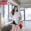 [PRE-KOREA] เสื้อยืดแขนสั้น ชายเสื้อแต่งแถบ (มีให้เลือก 3 สี) thumbnail 2