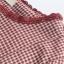 เสื้อเบลาส์แขนยาวลายสก๊อต แต่งชายลูกไม้ (มีให้เลือก 2 สี) thumbnail 5