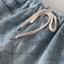 กางเกงยีนส์ขาสั้นเอวยืด ปักลายตาราง (มีให้เลือก 3 ไซส์) thumbnail 4
