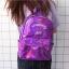 กระเป๋าเป้สะพายหลังหนังโฮโลแกรมปักลาย (มีให้เลือก 4 สี) thumbnail 4