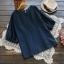 เสื้อผ้าฝ้ายคอกลมแขนสั้น ปักลาย (มีให้เลือก 2 สี) thumbnail 3