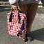 กระเป๋าเป้ผ้า Canvas ลายสก๊อต Lattice (มีให้เลือก 2 สี) thumbnail 4