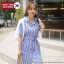 [PRE-KOREA] เดรสกระโปรงปกเชิ้ตแขนสั้น (มีให้เลือก 2 สี) thumbnail 2