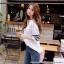 [PRE-KOREA] เสื้อยืดแต่งคอเสื้อพิมพ์ลายแถบแขนสั้น (มีให้เลือก 2 สี) thumbnail 5
