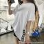 [PRE-KOREA] เสื้อยืดแขนสั้น ชายเสื้อแต่งแถบ (มีให้เลือก 3 สี) thumbnail 4