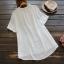 เสื้อเบลาส์สีขาวปักลาย แขนสั้น thumbnail 2