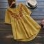 เสื้อเบลาส์ปักลาย แขนสั้น (มีให้เลือก 3 สี) thumbnail 1