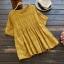 เสื้อผ้าฝ้ายปักลายลูกไม้ แขนสั้น (มีให้เลือก 4 สี) thumbnail 4