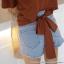 [PRE-KOREA] เสื้อยืดแขนสั้นผูกชายด้านหลัง (มีให้เลือก 3 สี) thumbnail 5