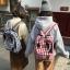 กระเป๋าเป้ผ้า Canvas ลายสก๊อต Lattice (มีให้เลือก 2 สี) thumbnail 1