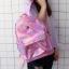 กระเป๋าเป้สะพายหลังหนังโฮโลแกรมปักลาย (มีให้เลือก 4 สี) thumbnail 3