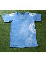 เสื้อยืดคอวี 100%Cotton มัดย้อมสีธรรมชาติ size:M