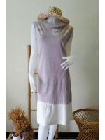 ชุดแซกแขนกุด Organic Cotton มัดย้อมสีธรรมชาติ Size:S/M