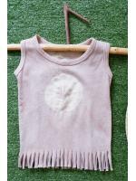 เสื้อกล้ามฮิปปี้เด็ก ผ้าออแกนิค มัดย้อมสีธรรมชาติ (อายุ1.5-2ขวบ)