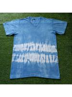 เสื้อยืดคอวี 100%Cotton มัดย้อมสีธรรมชาติ size:L