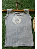 เสื้อกล้ามเด็ก ผ้าออแกนิค มัดย้อมสีธรรมชาติ (อายุ1.5-2ขวบ)