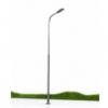 เสาไฟโลหะ สีเทา LED 3 โวลต์ สูง 10 ซ.ม. / ชุด 5 ต้น (พรีเมี่ยม)