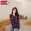 [PRE-KOREA] เสื้อเบลาส์คอวีแต่งลูกไม้แขนยาว แบรนด์ cherryville