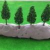 ต้นไม้จิ๋ว (N Z scale) 25 ต้น ขนาด 4.8 ซ.ม.