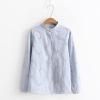เสื้อเชิ้ตลายสก๊อต ปักแต่งลาย (มีให้เลือก 3 สี 4 ไซส์)
