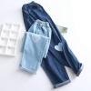 กางเกงยีนส์ขายาวเอวยืด ปักลาย (มีให้เลือก 2 สี 2 ไซส์)