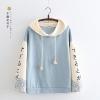 เสื้อยืดฮู้ดแขนยาว พิมพ์ลายญี่ปุ่น (มีให้เลือก 3 สี)