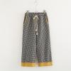 กางเกงลายสก๊อตขายาวเอวยืด (มีให้เลือก 2 สี)