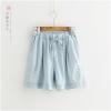 กางเกงยีนส์ขาสั้นเอวยืด (มีให้เลือก 2 สี)