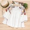 เสื้อเบลาส์สีขาวปักแต่งลาย/แต่งพู่ (มีให้เลือก 3 ไซส์)