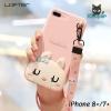LOFTER Hello Rabbit Silicone - Pink (iPhone8+/7+)