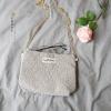{ พร้อมส่ง } กระเป๋าสะพายข้างผ้าลูกไม้ (มีให้เลือก 2 สี)