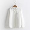 เสื้อเชิ้ตสีขาวเย็บแต่งระบาย (มีให้เลือก 2 ไซส์)
