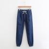 กางเกงยีนส์ขายาวเอวยืด ขาจั๊ม (มีให้เลือก 2 สี)